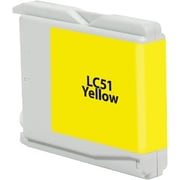 Staples Remanufactured Yellow Ink Cartridge, Brother LC51Y (SIB-RLC51YDS)