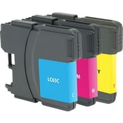 Staples® Remanufactured Inkjet Cartridge, Brother LC65 (LC-65CMY), Cyan, Magenta, Yellow, High Yield, Multi-Pack