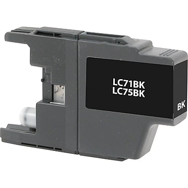 Staples Remanufactured Black Ink Cartridge, Brother LC75BK (SIB-RLC75B), High Yield