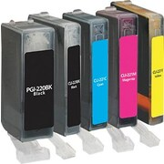 Staples (SIC-R2202215PDS) Remanufactured Black and PG-Black/C/M/Y Color Ink Cartridges, 5/pack