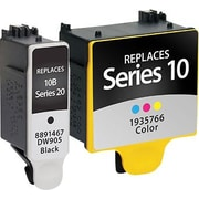 Staples Remanufactured Black and 5-Color Ink Cartridges, Kodak 10XL/10C (SIK-R10B10CDS), Combo 2/Pack