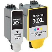 Staples Remanufactured Black and Tricolor Ink Cartridges, Kodak 30XL (SIK-R30CPDS), High Yield, Combo 2/Pack