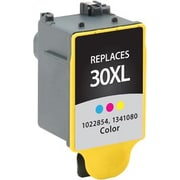 Staples Remanufactured Tricolor Ink Cartridge, Kodak 30XL (SIK-R30XCDS), High Yield