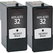 Staples® (18C0032) Remanufactured Black Ink Cartridge, Twin Pack