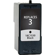 Staples Remanufactured Black Ink Cartridge, Lexmark 3 (SIL-R3BDS)