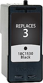 Staples Remanufactured Black Ink Cartridge, Lexmark 3 (SIL-R3BDS)