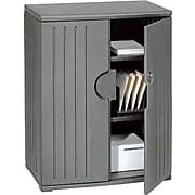 "Iceberg® Officeworks® Polyethylene Storage Cabinet, Non-Assembled, 46Hx36Wx22D"", Charcoal"