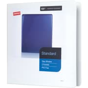 "1-1/2"" Staples® Standard View Binder with D-Rings, White"