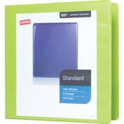 "2"" Staples® Standard View Binder with D-Rings, Chartreuse"