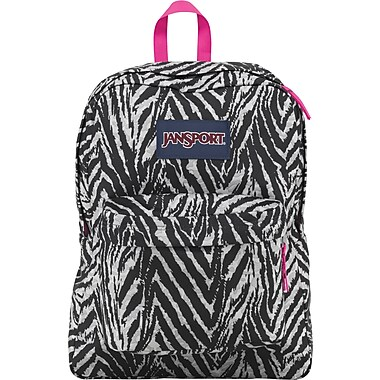 Jansport Superbreak Gray Animal Print Backpack (T501ZE6)