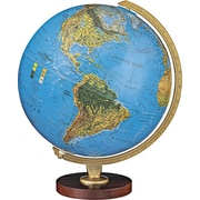 "Replogle Livingston 12"" Illuminated Desk Globe, Blue"