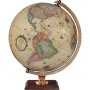 Replogle - Globe terrestre de bureau antique illuminé Carlyle, 12 po