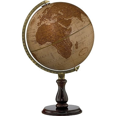 Replogle - Globe terrestre de bureau Expedition, 12 po, en cuir