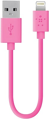 Belkin Mixit 6 in Lightning to USB ChargeSync Cable, Pink