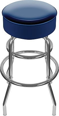 Trademark Global® High Grade Vinyl Padded Swivel Bar Stool, Blue