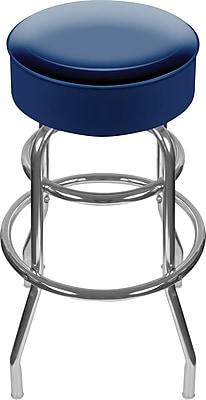 Trademark Global® High Grade Vinyl Padded Swivel Bar Stool, Blue