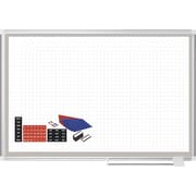 MasterVision®  Magnetic General Format Grid Planner 36x48, Alum. w/Kit