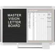 MasterVision®  In-Out Magnetic Dry Erase/Letter Board 18x24, Alum.