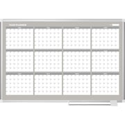 MasterVision®  Magnetic  12 Month Planner Trad. Format 36x48, Alum.