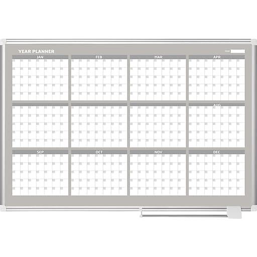 mastervision magnetic 12 month planner trad format 36x48 alum