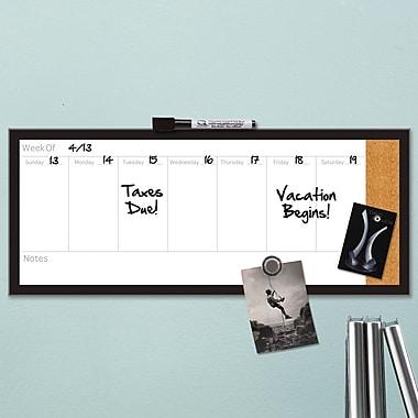Quartet® Magnetic Weekly Organizer Combo Board, Dry-Erase & Cork