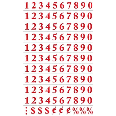 MasterVision® Magnetic Numbers, Red on White