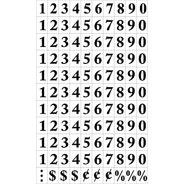 MasterVision® Magnetic Numbers, Black on White