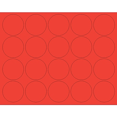 MasterVision® Magnetic Circles 3/4 pk of 20, Red
