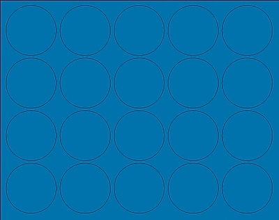 "MasterVision Interchangeable Circle Magnets, Blue, 3/4"" Dia., 20/Pack"