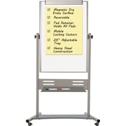 MasterVision® Magnetic  Dry Erase Mobile Rev. Pres. Easel 35x 47, Silver