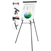 "MasterVision® 3-Leg Heavy-Duty Telescoping Display Easel, Black, 38-69""H"