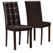 DARK BROWN LEATHER LOOK DINING CHAIR / 2PCS PER CTN