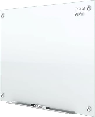 Quartet® Infinity™ Glass Magnetic Marker Board, White, Frameless, 2'W x 1 1/2'H (G2418W)