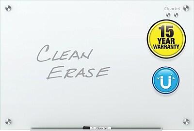Quartet® Infinity™ Glass Magnetic Marker Board, White, Frameless, 4'W x 3'H (G4836W)