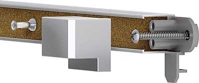 Quartet Prestige® 2 Connects™ Cork Bulletin Bar, Aluminum Frame, 1