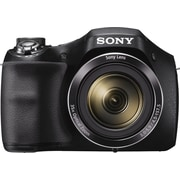 "Sony Cyber-shot DSCH300B Digital Camera, 20.1MP, 35x Optical Zoom, 720 HD Video, 3"" LCD Screen, Black"