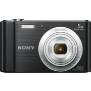 "Sony® Cyber-shot DSCW800B Digital Camera, 20.1MP, 5x Optical Zoom, 720 HD Video, 2.7"" LCD Screen, Black"