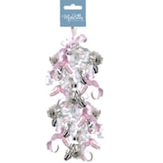 Swirly Bow Pink Baby, 24 Bows