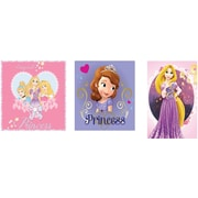 Disney Princesses Wall Art Assortment, 3/Pack