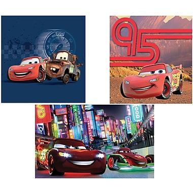Disney/Pixar – Assortiment d'art mural des Bagnoles, emb. de 3