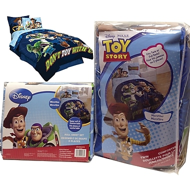 Disney/Pixar Toy Story 3 Don't Toy With Us Bed in a Bag, Made for Twin Beds, Blue,
