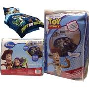 Disney – Literie dans un sac Pixar/Histoire de jouets 3 Don't Toy With Us, conçue pour les lits jumeaux, bleu