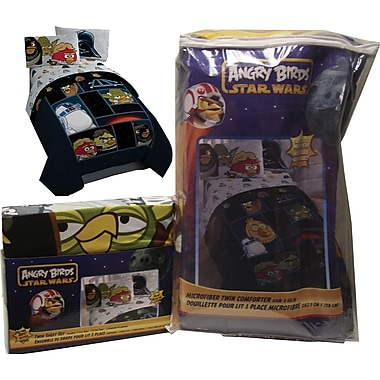 Rovio/ Lucas Films Angry Birds Star Wars Bed in a Bag, Made for twin beds, Black