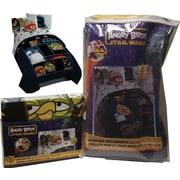 Rovio – Literie dans un sac des films Lucas, Angry Birds et Star Wars, conçue pour lit jumeau, noir