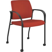 HON® Ignition Fabric Stacking Chair With Casters, Crimson Red
