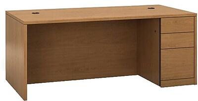 HON® 10500 Series Right Pedestal Desk, Harvest, 29 1/2