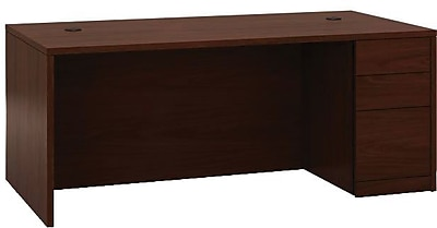 HON 10500 Series Right Pedestal Desk, 2 Box/1 File Drawer, 72