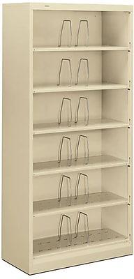 HON® Brigade® 600 Series 6 Shelf Lateral File Cabinet, Open, Legal, Putty, 36