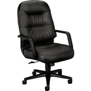HON Pillow-Soft Leather Executive Office Chair, Fixed Arms, Black (H2091SR11T.COM) NEXT2017