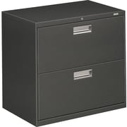 HON Brigade 600 Series 2 Drawer Lateral File, Charcoal,Letter/Legal, 30''W (HON672LS)